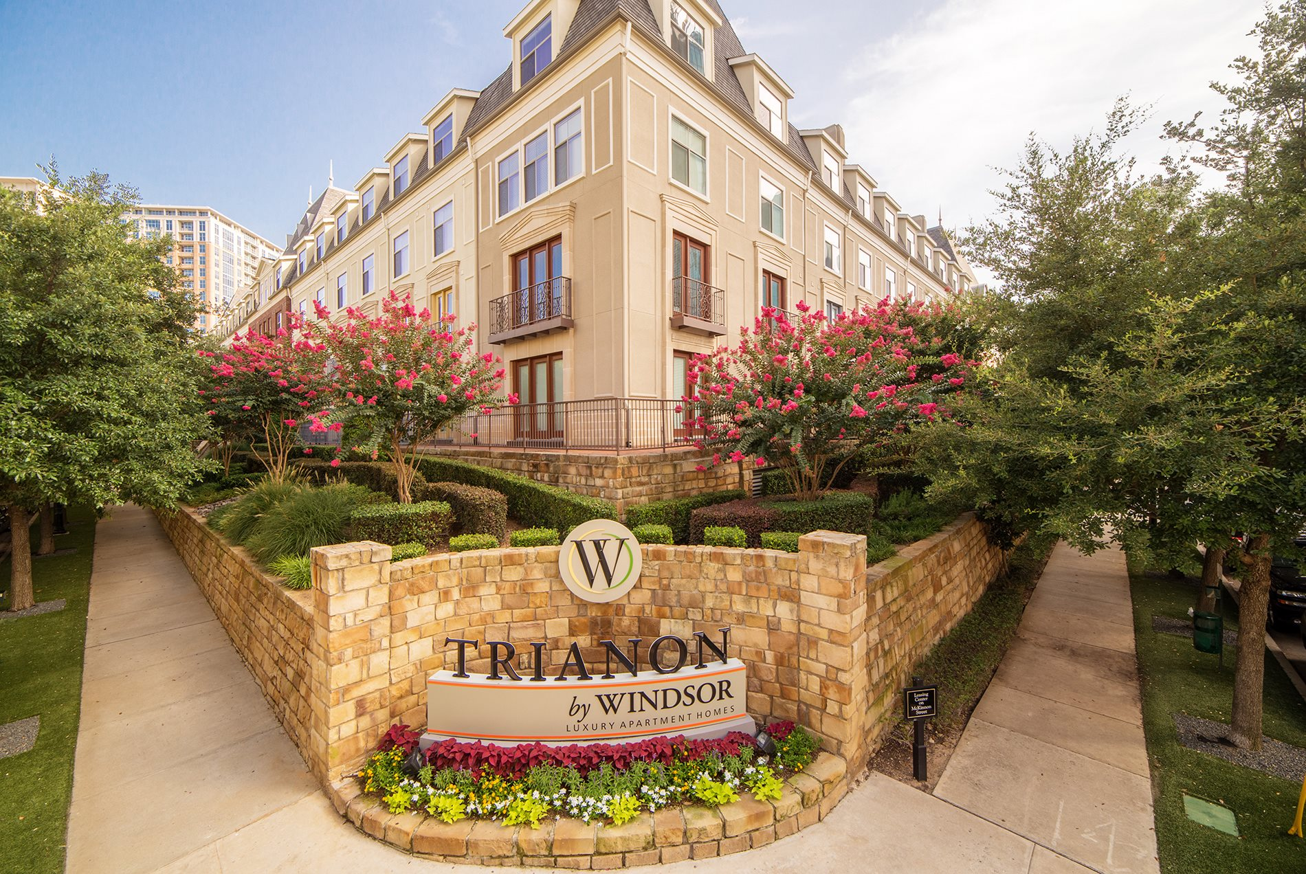 Beautiful Exterior At Trianon by Windsor,2820 McKinnon Street, Dallas, 75201