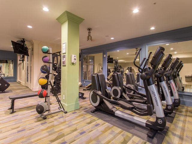 Our fully equipped fitness center is available 24/7 At Trianon by Windsor, TX,75201