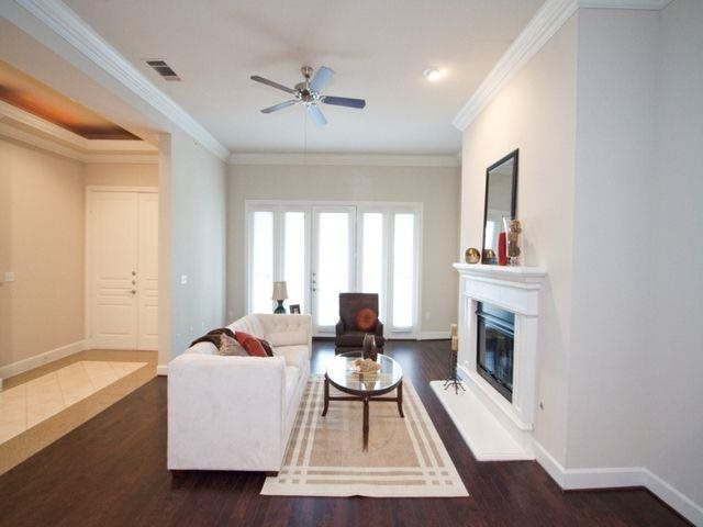 Enjoy gas fireplaces in our two and three bedroom Private Villas At Trianon by Windsor, Dallas, TX,75201