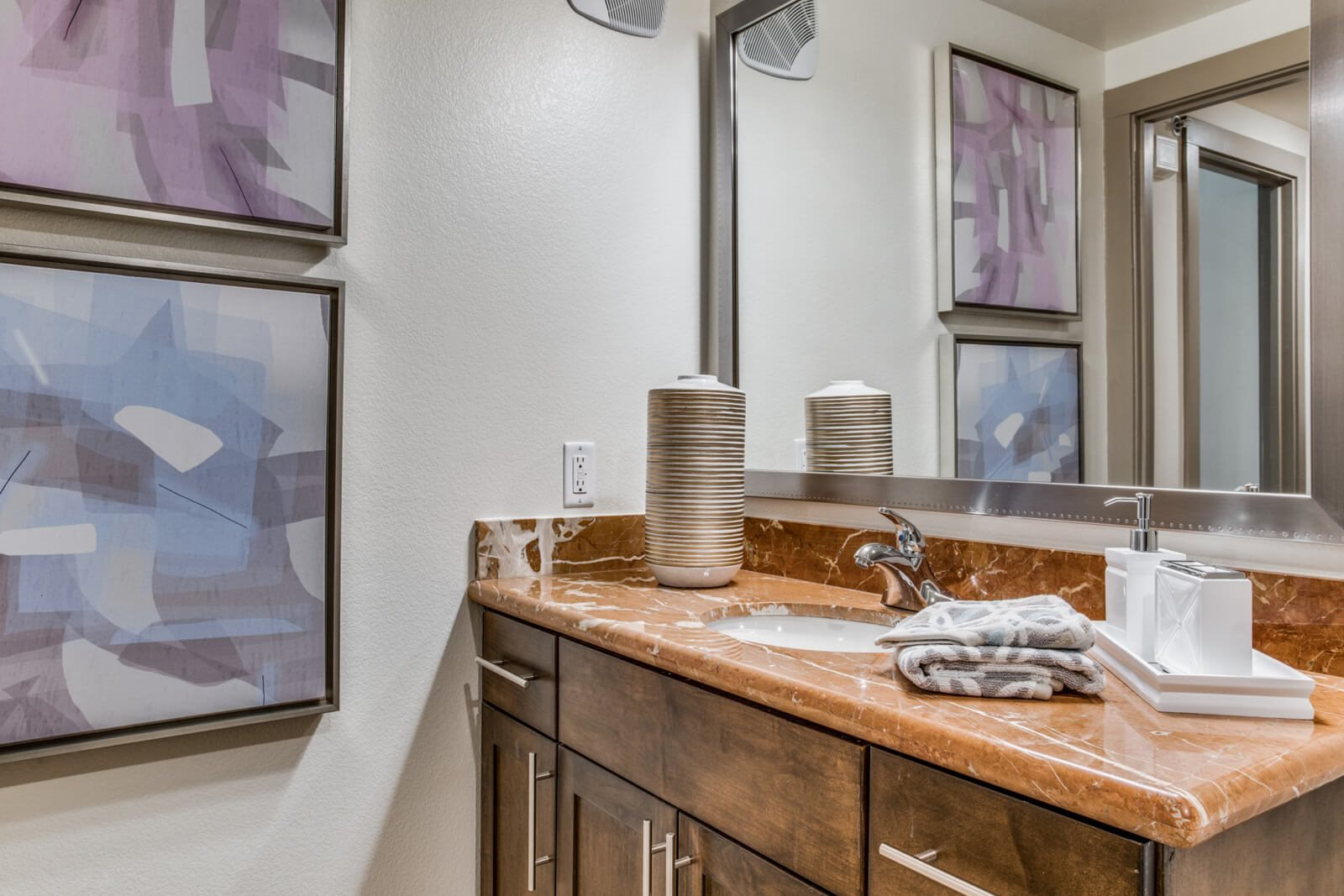 Spa-Inspired Bathrooms at The Monterey by Windsor, 3930 McKinney Avenue, Dallas
