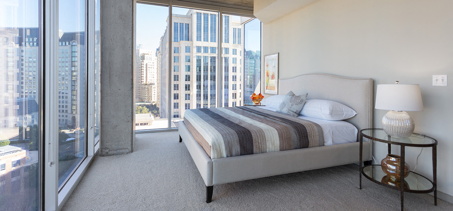 Private Master Bedroom Balcony At Glass House By Windsor, Dallas, TX, 75201