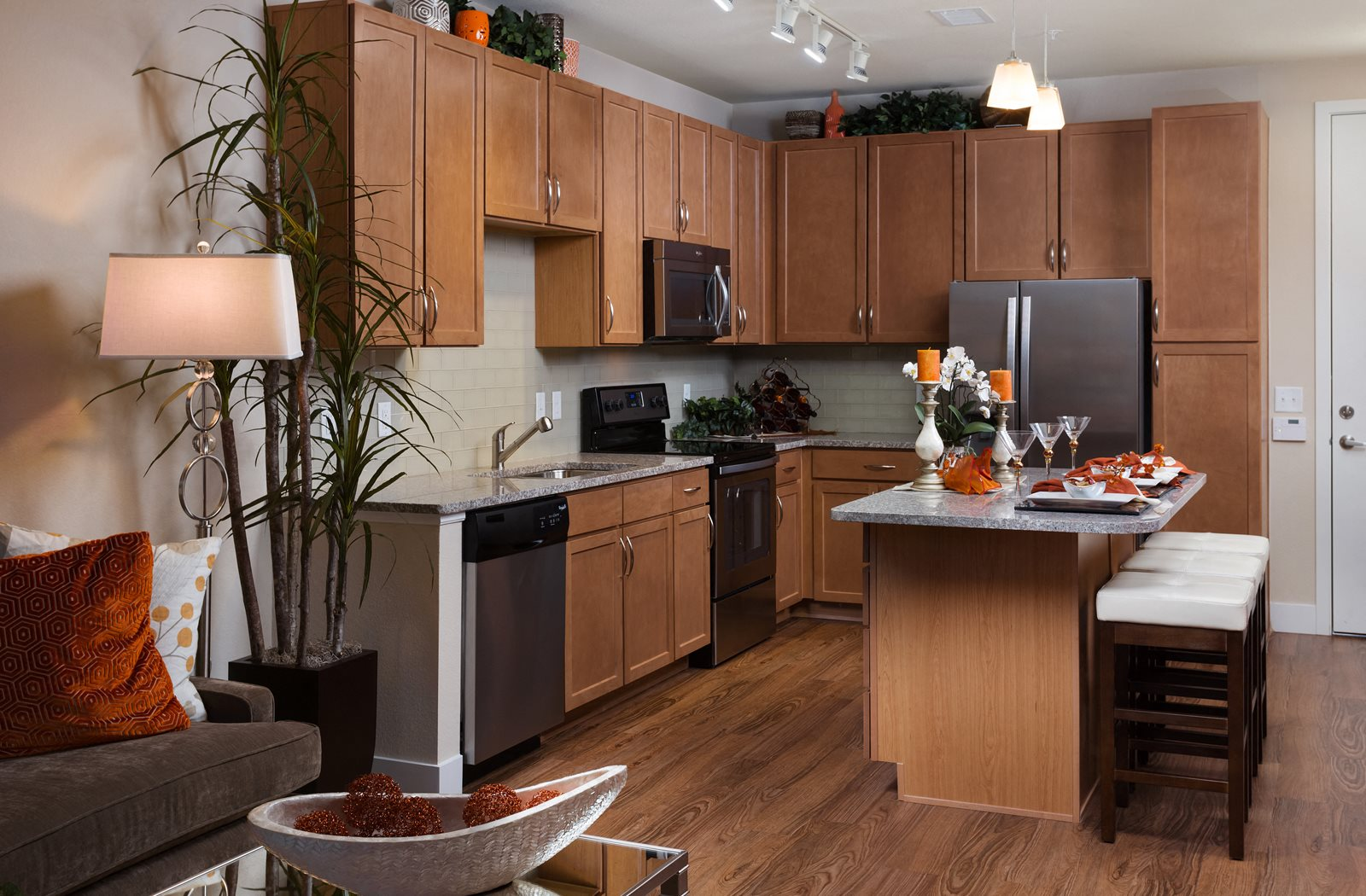 Spacious Kitchen With Pantry Cabinet At Element 47 By Windsor Denver CO 80211