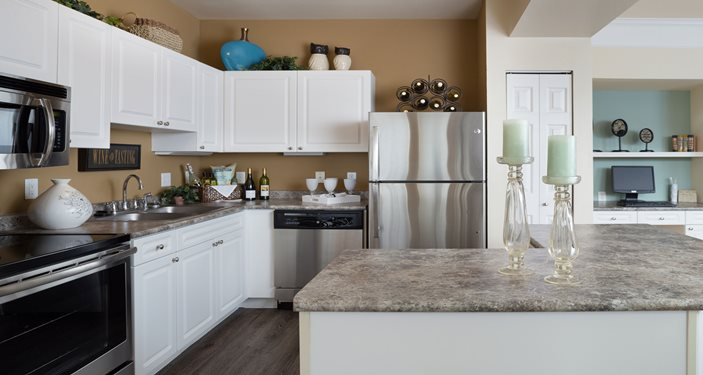 Contemporary Kitchens with Granite Counter Tops, Custom Cabinetry, Pantries
