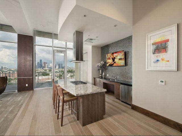 Demonstration Kitchen, at The Sovereign at Regent Square, 3233 West Dallas, Houston, TX