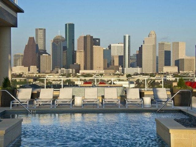 The view from our pool and sun deck is spectacular, at The Sovereign at Regent Square, 3233 West Dallas, TX
