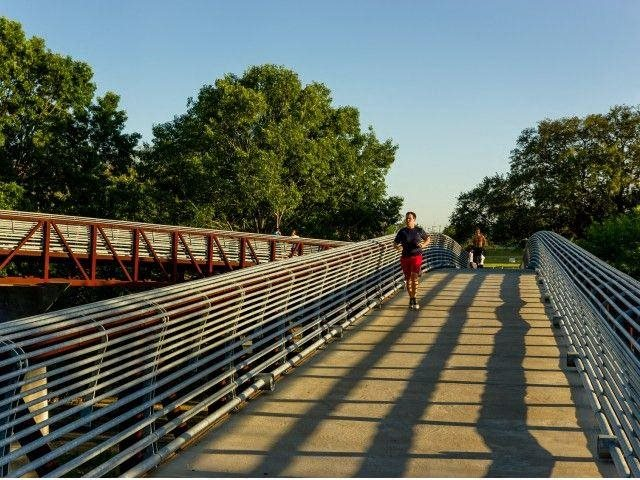 Bike, run or walk along the Buffalo Bayou, at The Sovereign at Regent Square, 3233 West Dallas, Houston, TX