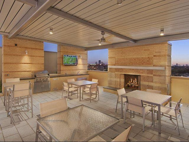 Relax at the fire pit, at The Sovereign at Regent Square, 3233 West Dallas, TX