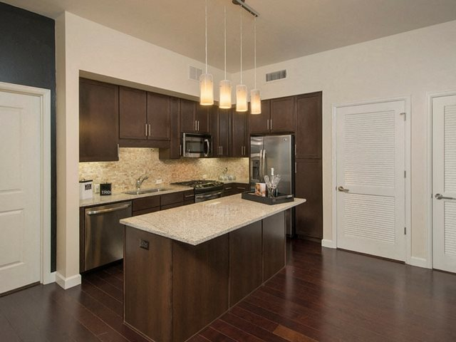 Fully Equipped Kitchens at The Sovereign at Regent Square, TX