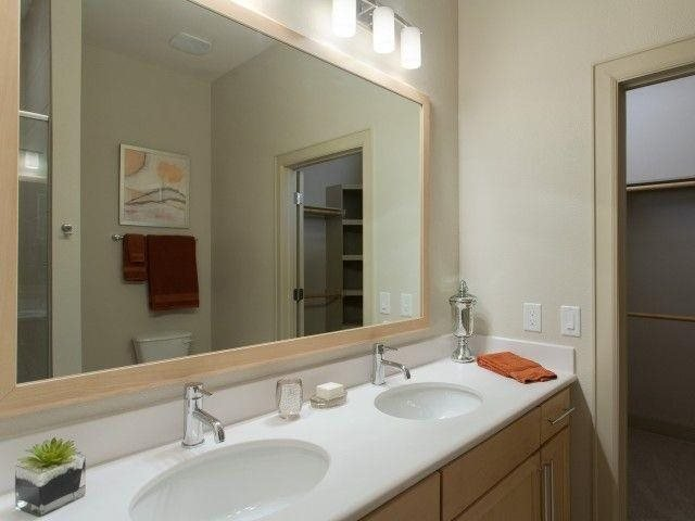 At Domain by Windsor,1755 Crescent Plaza, Houston, 77077 Double vanity sinks available in several homes