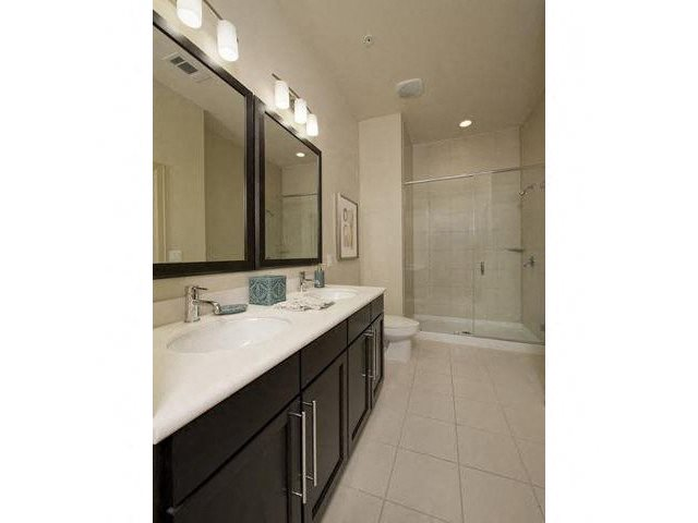 At Domain by Windsor, Houston, TX 77077 Oversized en suite featuring walk-in shower