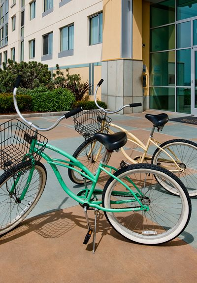 Bicycle Racks And Cycling Trails at Sea Castle, Santa Monica, CA, 90401