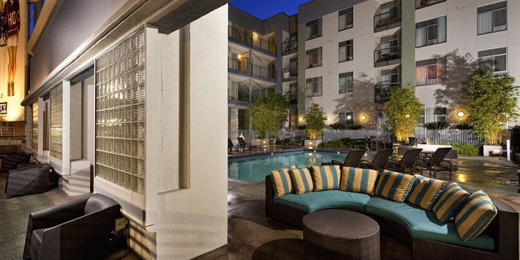 Spacious Sun Deck With Luxurious Seating at sunset + vine, 90028