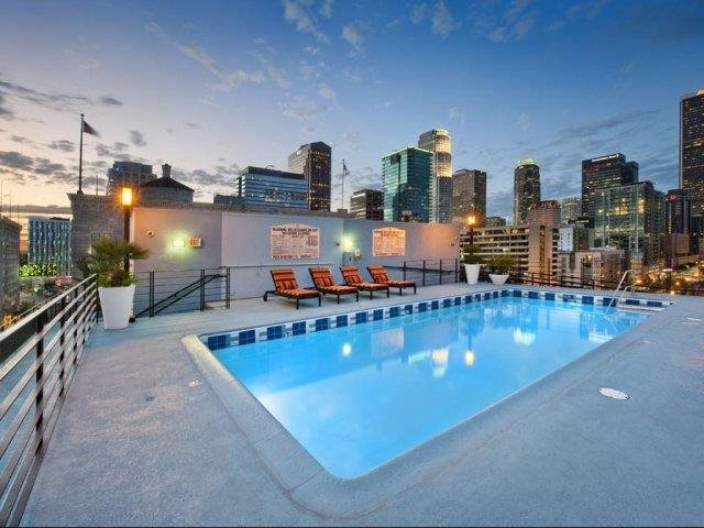 10th Floor Pool Deck at Renaissance Tower, Los Angeles, CA 90015