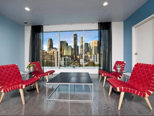 Sky Lounge with Views of Downtown LA From at Renaissance Tower, California, 90015