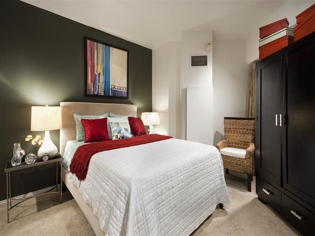 Large Bedrooms With Plush Carpeting at Renaissance Tower, 501 W. Olympic Boulevard, Los Angeles, CA 90015