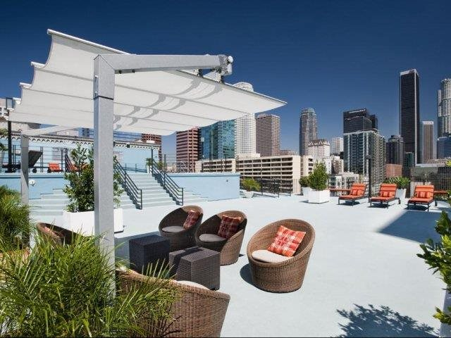 10th Floor Lounge with BBQ Grills at Renaissance Tower, 501 W. Olympic Boulevard, CA