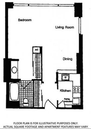 FloorPlan At Renaissance Tower, Los Angeles, CA, 90015