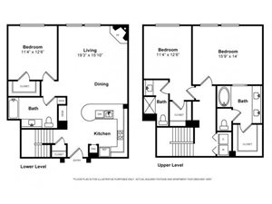 Three Bedroom Townhouse Floorplan at Windsor Lofts at Universal City