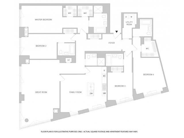 The Aldyn | Studio, 1, 2, 3 & 4 Bedroom Apartments | Floor Plans