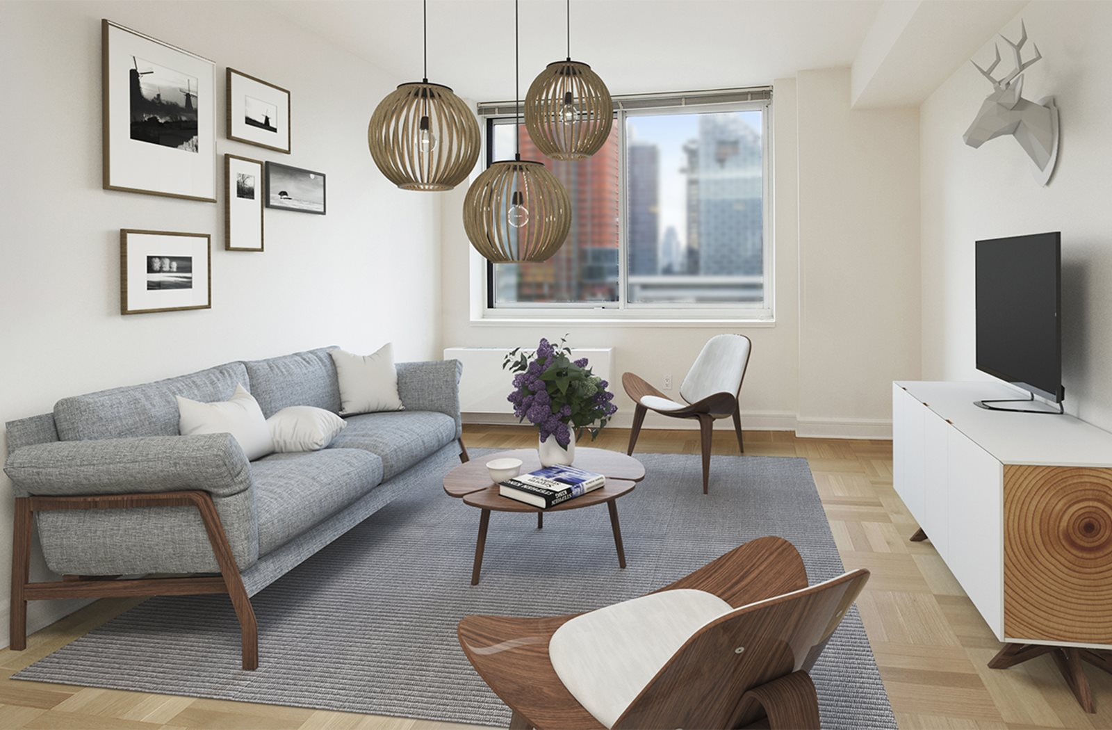 Spacious Living Rooms at The Ashley, New York, NY, 10069
