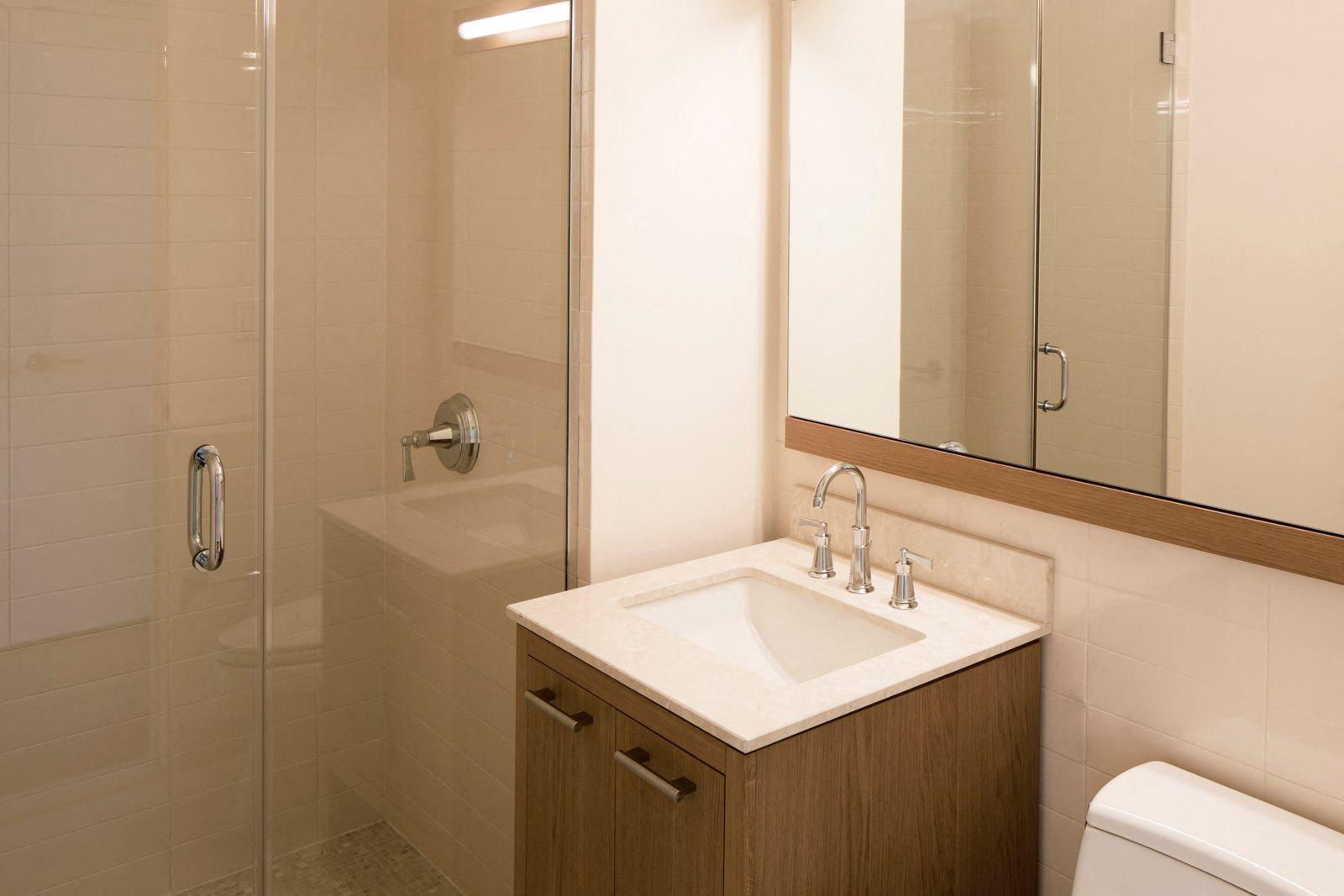 Modern Bathrooms at The Ashley Apartments, New York, New York