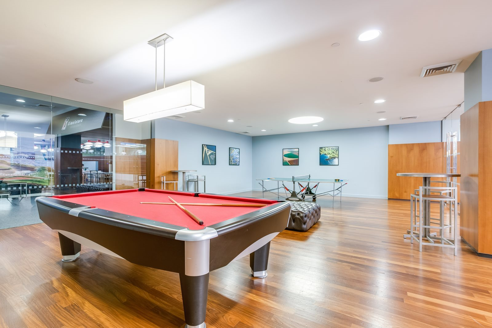 Game room with Billiards Table at The Ashley Upper West Side Apartments