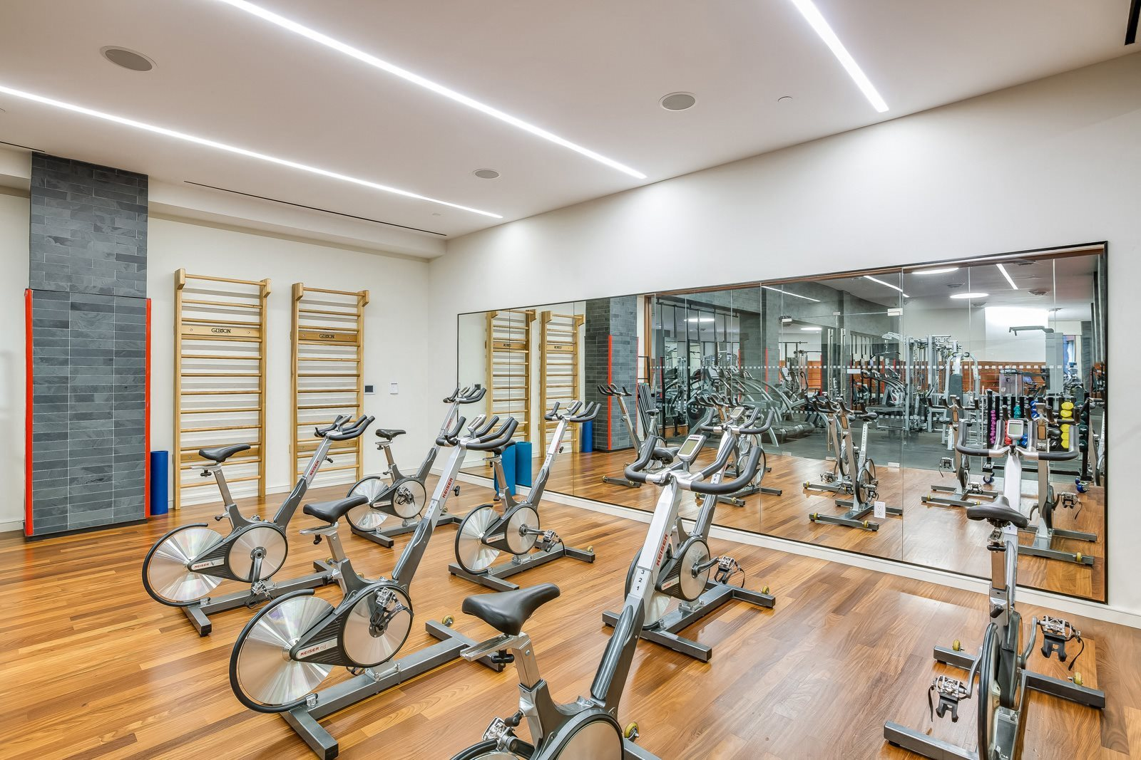 Fitness Center with Spin Room at The Ashley Apartments, 400 W. 63rd Street, 10069