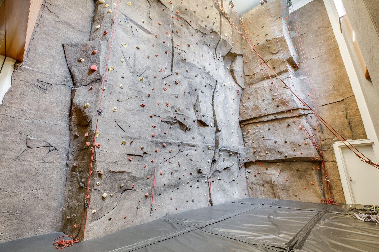 38' rock climbing wall at The Ashley Apartments, 400 W. 63rd Street, 10069