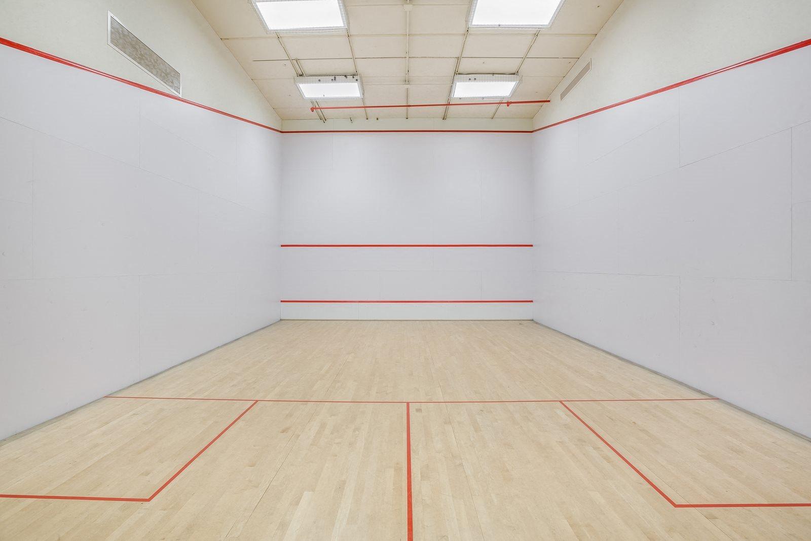 Squash court at The Ashley Apartments, New York, New York