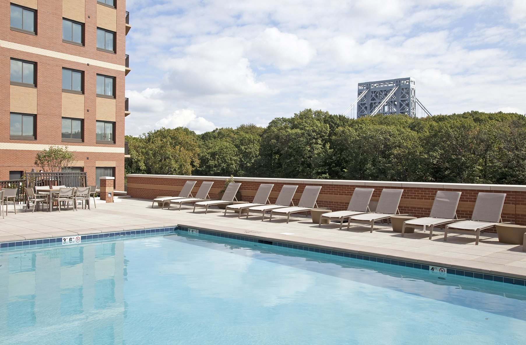 Sparkling Swimming Pool at Twenty50 by Windsor, 2050 N. Central Rd., Fort Lee, NJ 07024