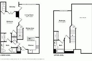 Asbury Penthouse Floorplan at Windsor at Liberty House
