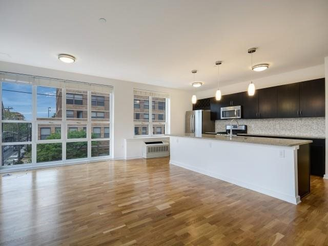 Floor to ceiling windows in select homes