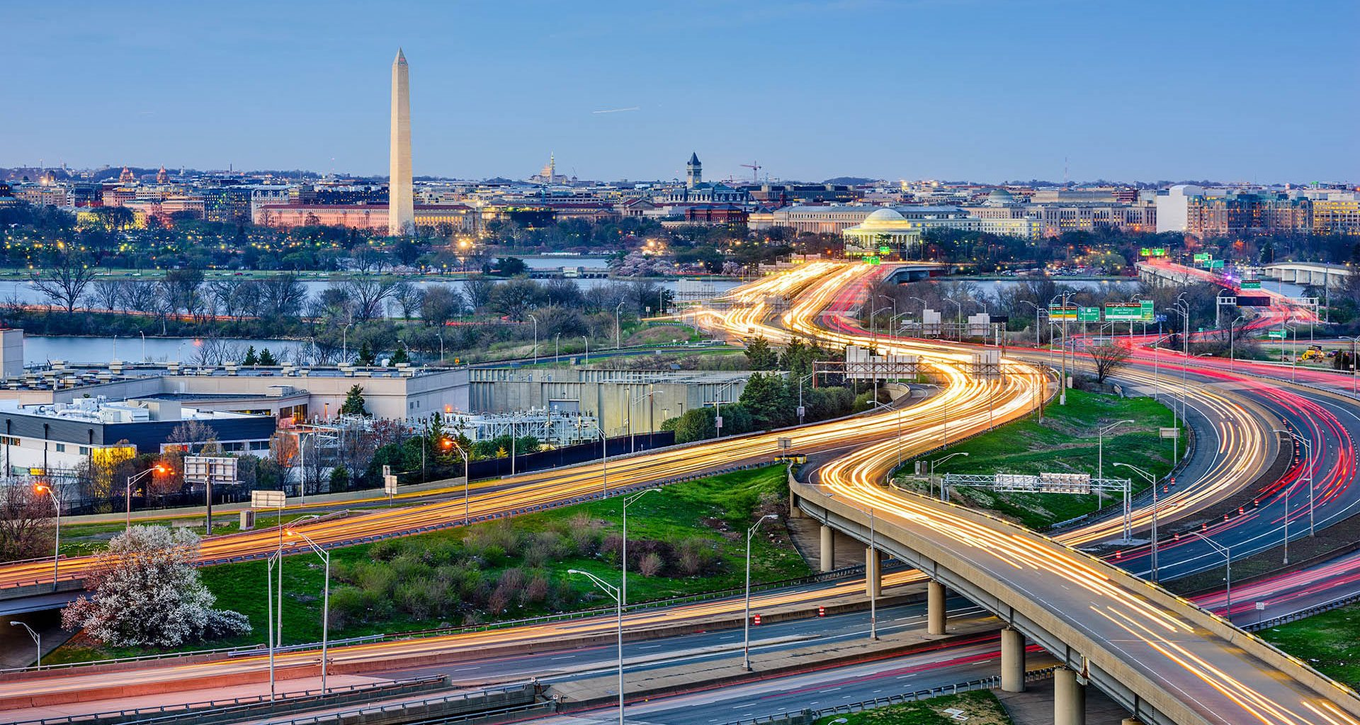 Panoramic photo of Washington DC