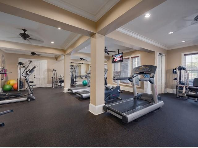 Workout anytime day or night in our 24 hour gym.