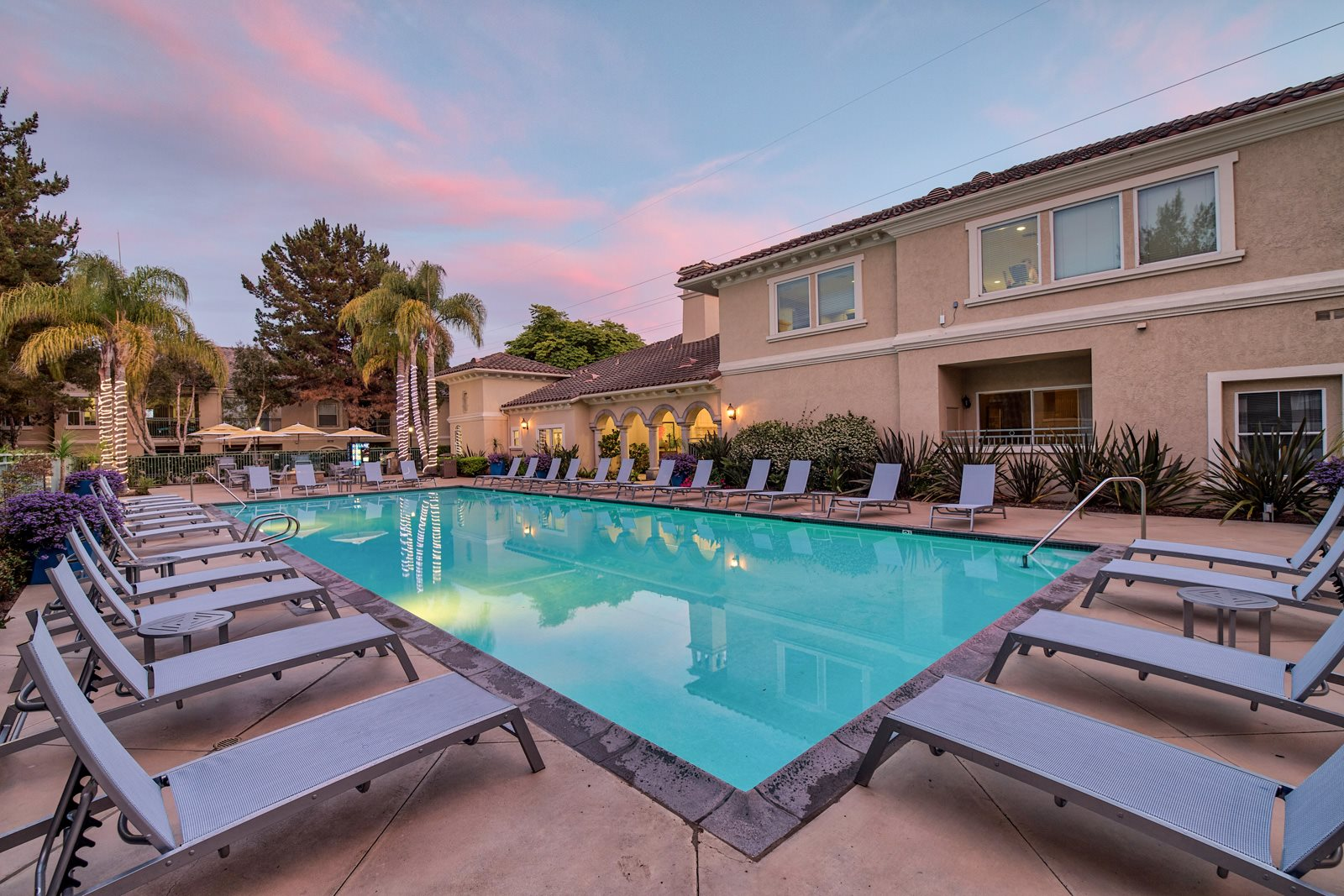 Pool Side Relaxing Area at Windsor at Aviara, Carlsbad, 92011