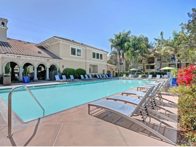 Pool Side Relaxing Area at Windsor at Aviara, Carlsbad, CA, 92011