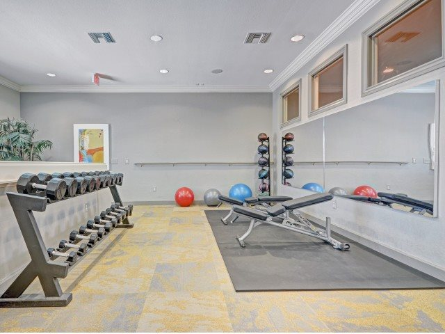 Fully Equipped Fitness Center with Free Weights at Windsor at Aviara, Carlsbad, CA, 92011