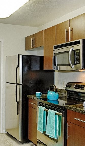 Mission Pointe by Windsor, Sunnyvale, CA, 94089 has Refridegerator with Ice Maker in all Apartments
