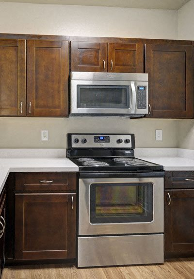 Pavona Apartments, 760 N. 7th Street, San Jose, CA, 95112 has Gas Range in Kitchen for every Apartment