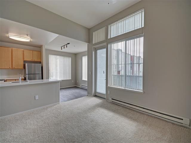 Select top-floor homes have vaulted ceilings at Allegro at Jack London Square, CA 94607