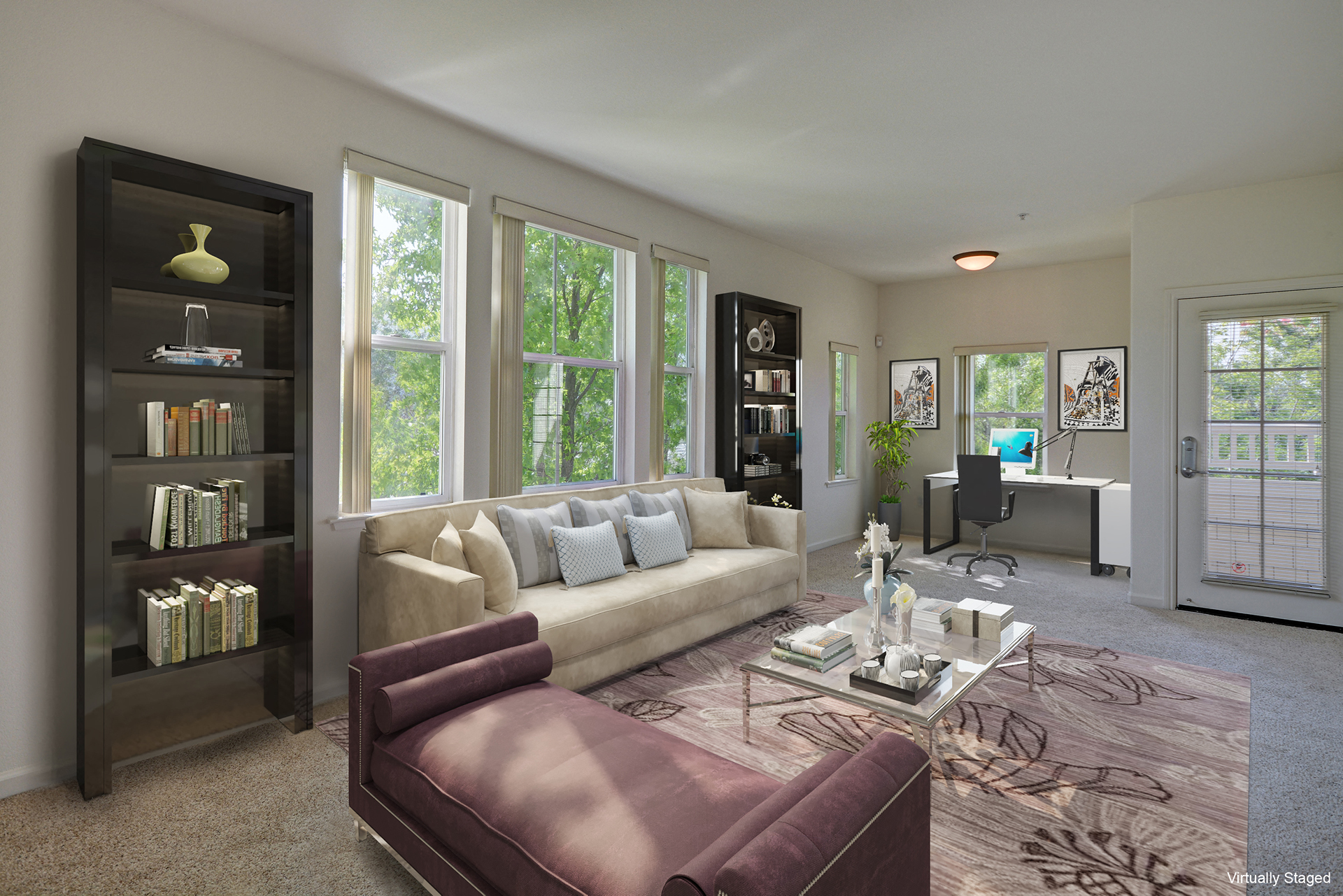Fully Furnished Living Rooms At The Kensington, Pleasanton, CA, 94566