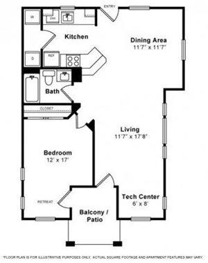 Floorplan at The Kensington, Pleasanton, CA, 94566