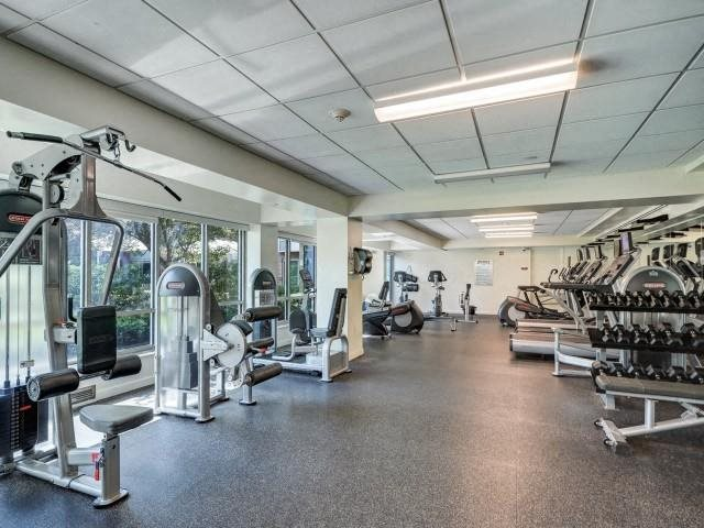 Get motivated in our 24 hour health and fitness center with modern equipment.