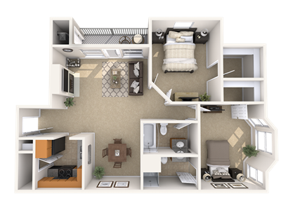 2 Bedroom Apartment Floorplan Pine Lane Estates Apartments
