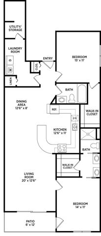 2 Bed 2 Bath for 2 People (rate per person)