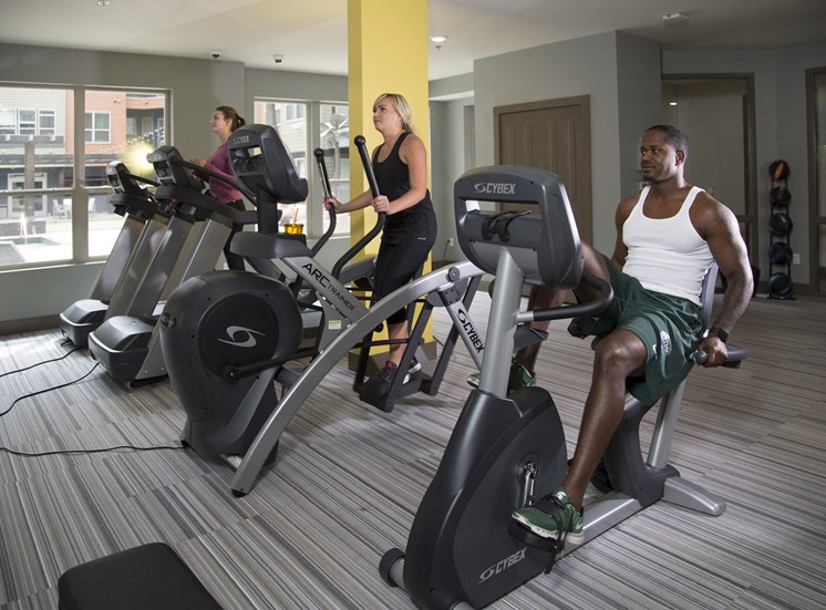 Fitness Studio at the Heights Apartments near Eastwood Towne Center