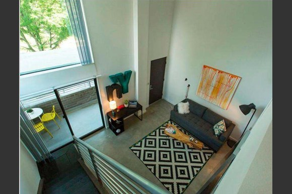 Open Living Room At Emerson Lofts In Denver Co