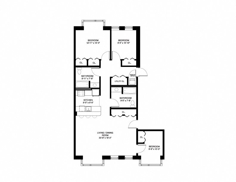 Market Wait List - 3 Bedroom Floor Plan 3