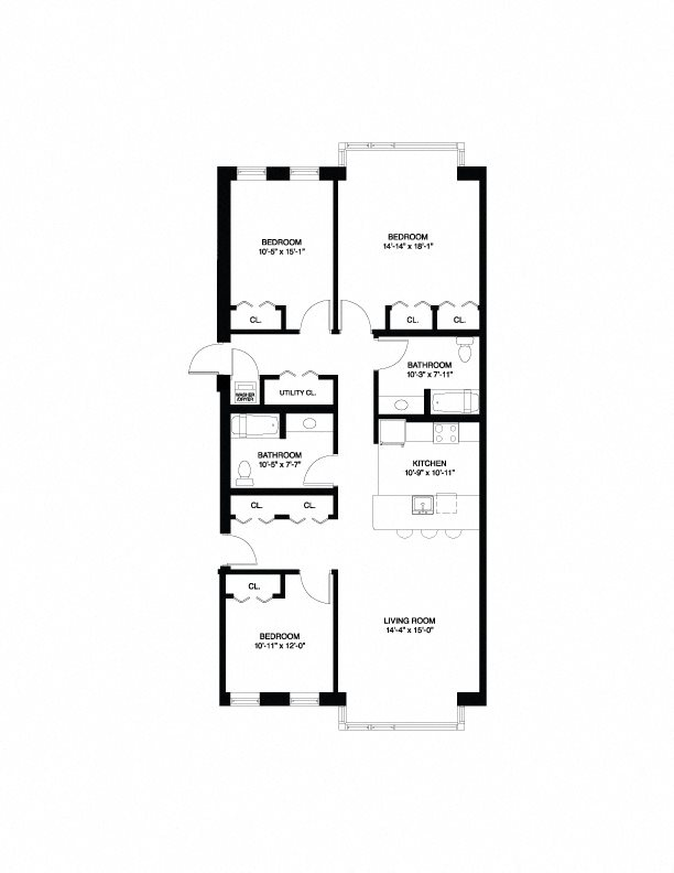 Affordable Wait List - 3 Bedroom Floor Plan 5