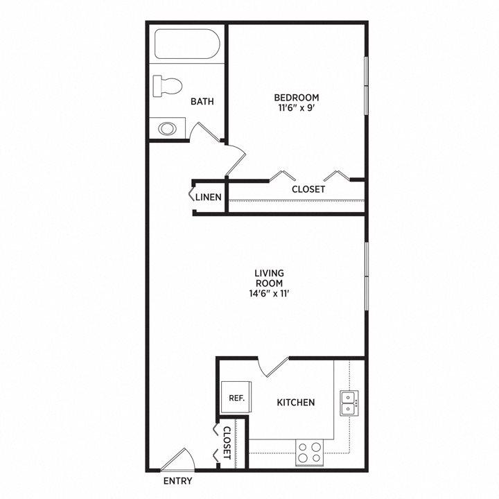 Floor Plans Of Abbott Pointe Apartments In East Lansing, MI